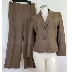 Ann Taylor LOFT Size 10P Brown Pant Suit